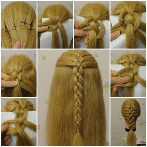 diy hairstyles with braids diy unique braided bun hairstyle icreativeideas com