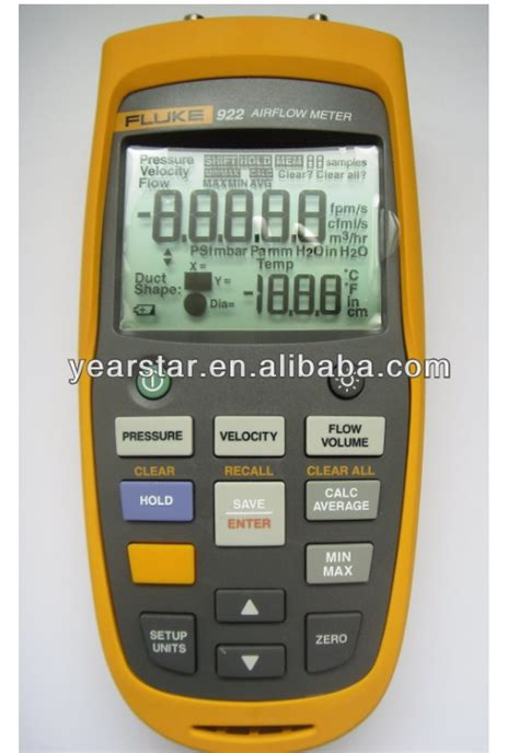 fluke 922 kit airflow meter micromanometer buy fluke 922 kit airflow meter micromanometer