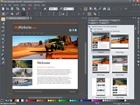 website templates for xara xara designer pro x9 adds even more publishing power