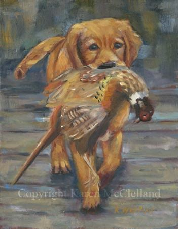 golden retriever feathers golden retriever limited edition giclee print painting done by artist