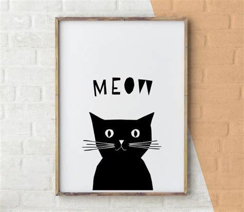 cat printable wall nursery print baby gift cat