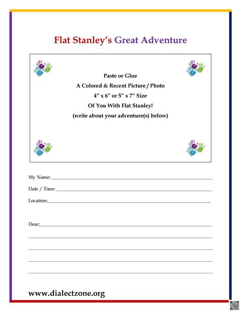 flat stanley letter template flat stanley great adventure letter dialect zone international