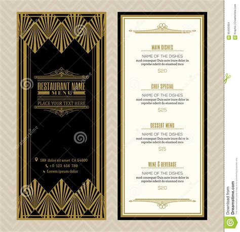 restaurant or cafe menu design template with vintage retro