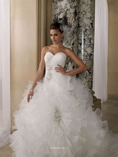 wedding dress in uk pleated organza ruffled sweetheart gown wedding dress uk instyledress co uk