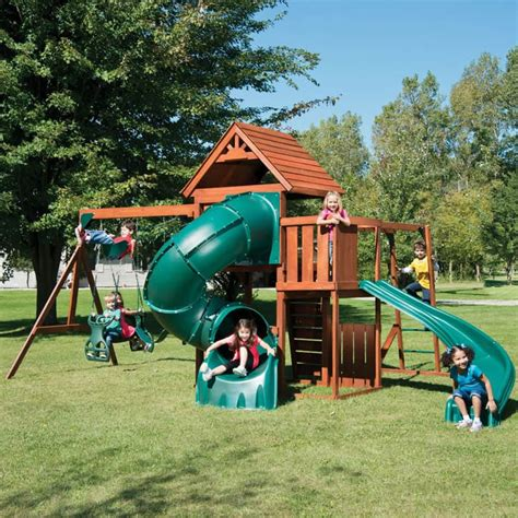 wooden swing sets with slide backyard playground and swing sets ideas backyard play