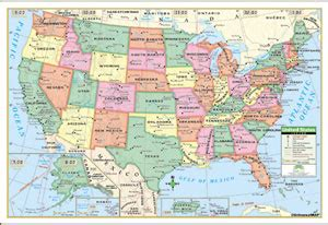 map of united states showing state lines printable united states map with longitude and latitude lines