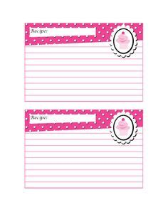 cupcake recipe card template 1000 images about printable recipe cards on