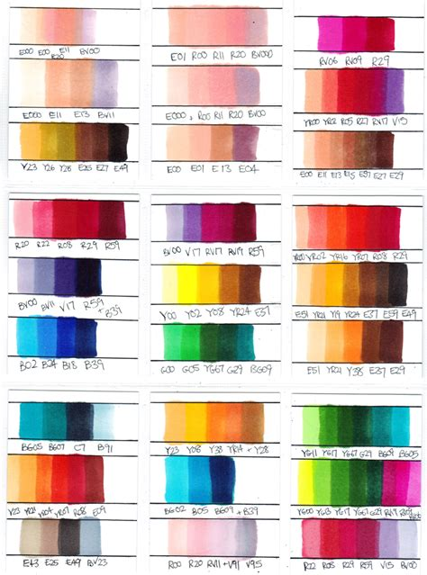combination of colours copic marker colour combinations by chad73 on deviantart