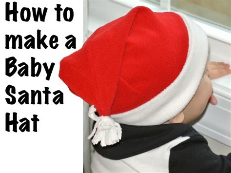 How To Make A Santa Hat Out Of Paper - how to sew a baby santa hat tutorial qa creations