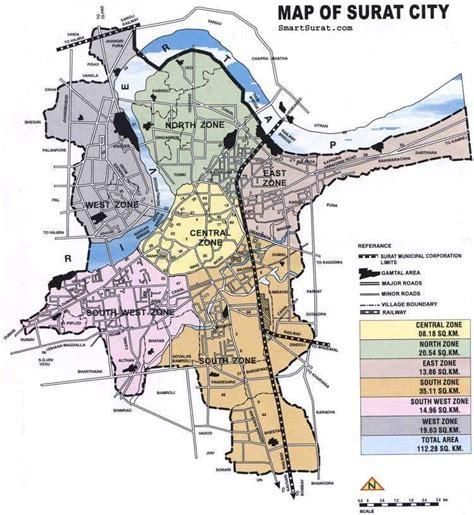 surat city road map map of surat mapsof net