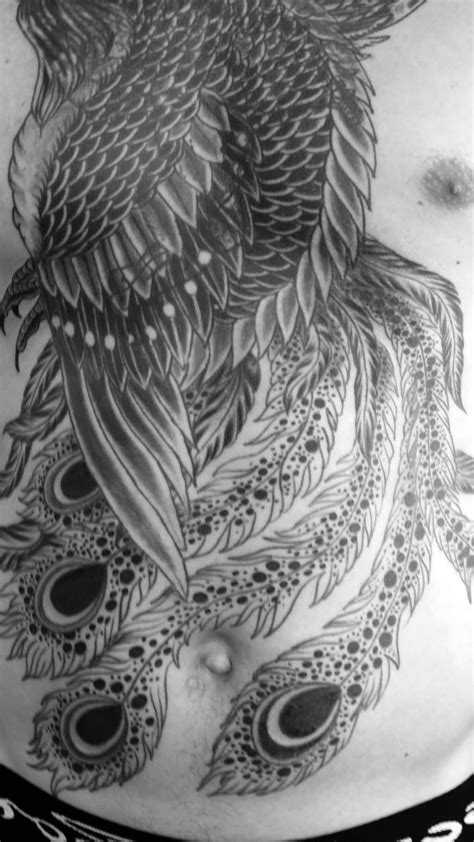 black and grey phoenix tattoo designs images designs