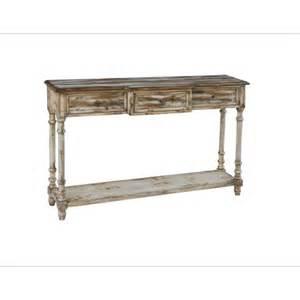 distressed wood sofa table pulaski furniture distressed wood console table