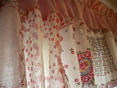 handkerchief curtains vintage handkerchief curtains pink floral