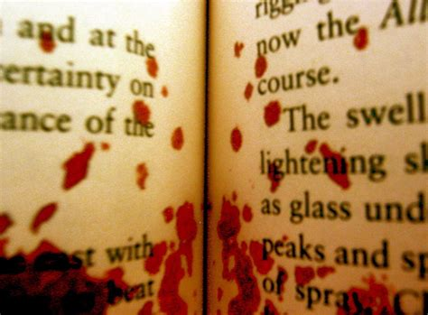 in the blood books my blood spills all the pages and my last die