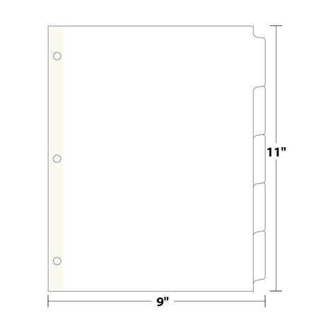 binder tab template 7 best images of tab divider template printable index