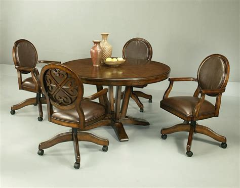 casters for dining room chairs black and grey dining chairs leather kitchen with casters