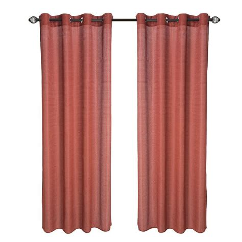 red grommet curtain panels curtainworks saville 108 in black thermal curtain panel