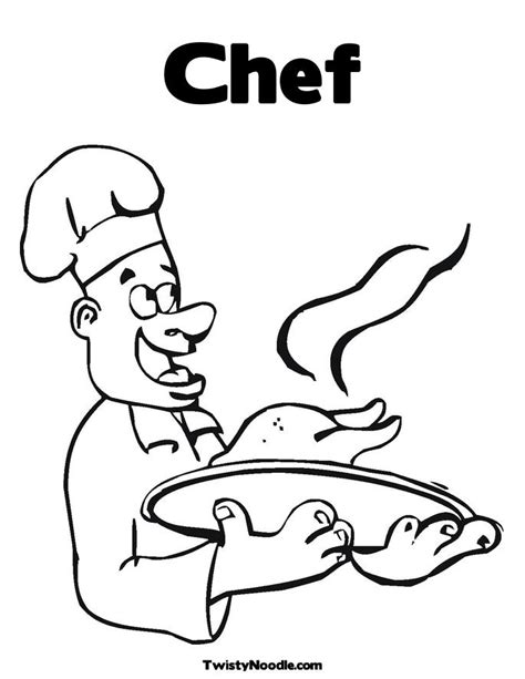 coloring page chef hat little chefs hat colouring pages