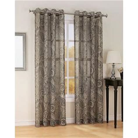 jaclyn smith drapes jaclyn smith celeste print textured semi sheer grommet