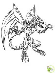 coloriage le dragon m 233 tallique dans la cat 233 gorie yu gi