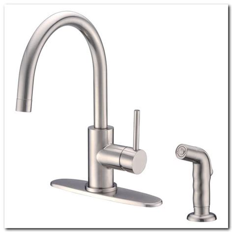 Gooseneck Kitchen Faucet With Spray Freestanding Gooseneck Tub Faucet With Sprayer Sink And Faucet Home Decorating Ideas