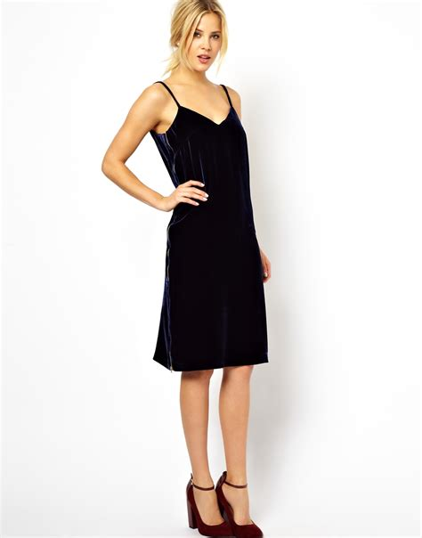 Dress Of The Day Silk Cami Dress by Asos Silk Velvet Cami Midi Dress In Lyst