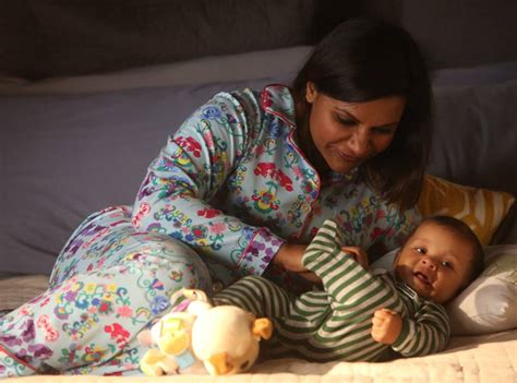 mindy kaling baby the mindy project first look baby leo is here and is so