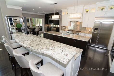 alaska white  elegant white granite  modern kitchens