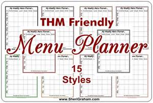 thm friendly editable menu planner 15 styles free