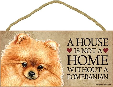 pomeranian house pomeranian wood sign wall plaque 5 x 10 bonus coaster