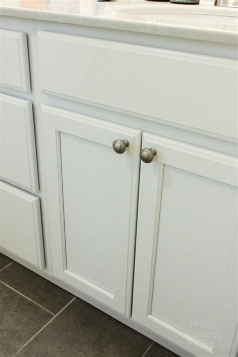 Install Cabinet Doors How To Install Knobs On New Cabinet Doors And Drawers Pretty Handy