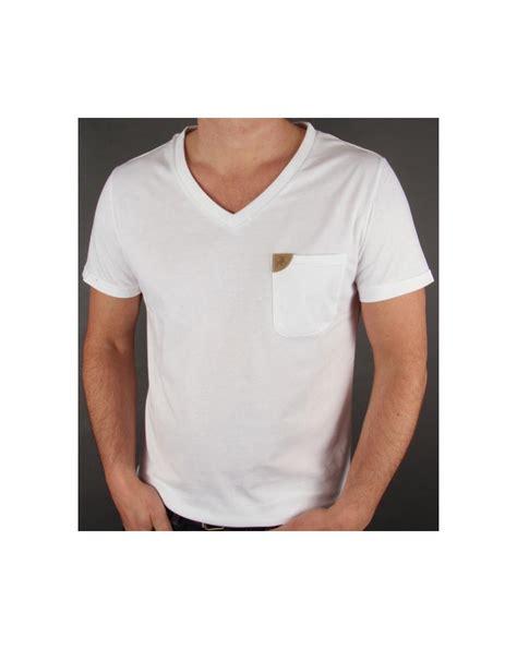 Pocket V Neck Shirt Only White lois v neck pocket t shirt white v neck lois