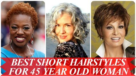 short haircuts for 45 year olds best short hairstyles for 45 year old woman youtube
