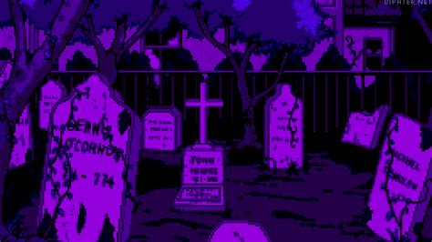 Gamis Selly Purple graveyard gif