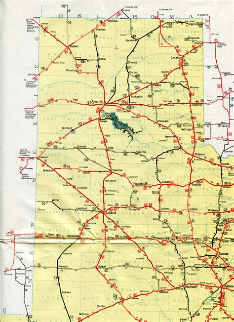 texas panhandle road map highway maps of texas