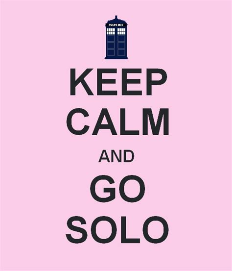 go solo victorian pulp keep calm and go solo