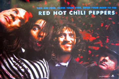 red hot chili peppers in color poster home decor gift by red hot chili peppers stadium arcadium band photo