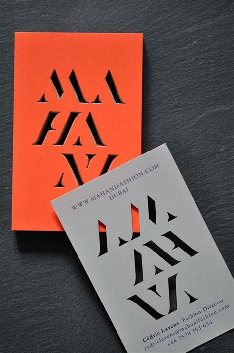 Cut Out Business Cards