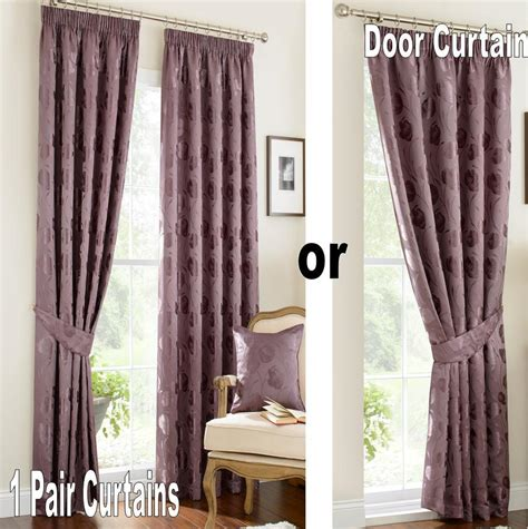 mauve drapes vintage linby pencil pleat lined curtains green gold