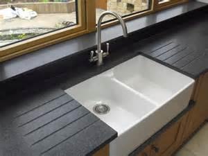 Corian Farm Sink Nero Impala Honed Granite With Belfast Sink Amp Drainer