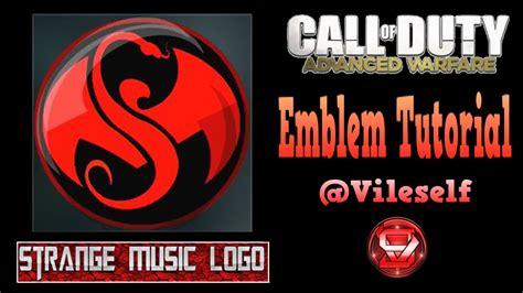 tutorial logo emblem advanced warfare emblem tutorial strange music logo youtube