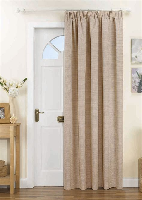 thermal door curtains kent thermal door curtain natural pencil pleat curtains com