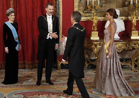 cena de gala de las cena de gala en el palacio real en honor a mauricio macri