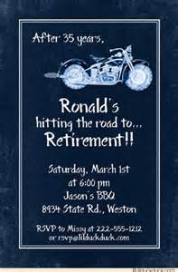 motorcycle retirement invitation cards vintage style