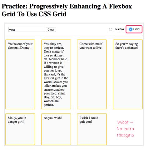 layout no css practice progressively enhancing a flexbox grid to use
