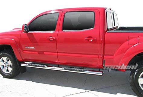 Toyota Tacoma Step Bars New 5 Quot S S Oval Wide Side Step Bars Fit 05 16 Toyota