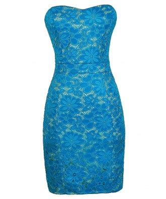 Dress Cantik Lace Abstrack Merry bright blue lace dress turquoise lace dress blue and