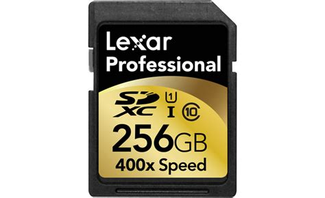 Memory Card 256gb Lexar Announces 256gb Sd Memory Card Available In October