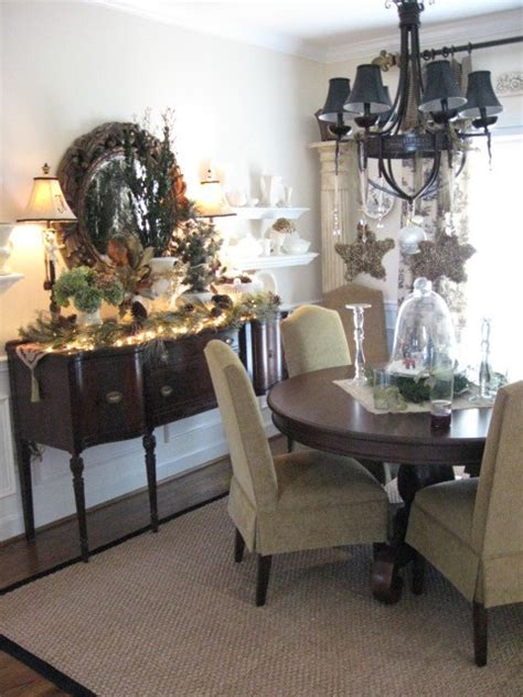 dining room buffet decorating ideas a wintery dining room southern hospitality