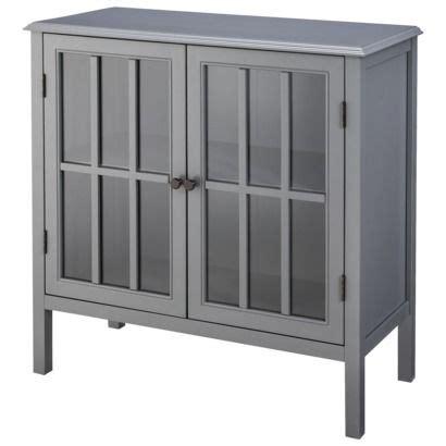 threshold windham accent cabinet gray